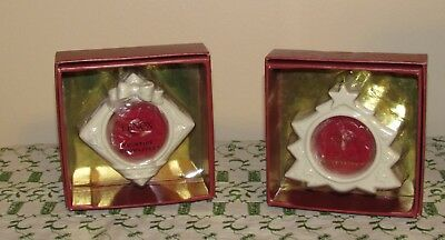 Lenox Christmas Yuletide Glowlites Tree and Package Tea Lites-2 NIB