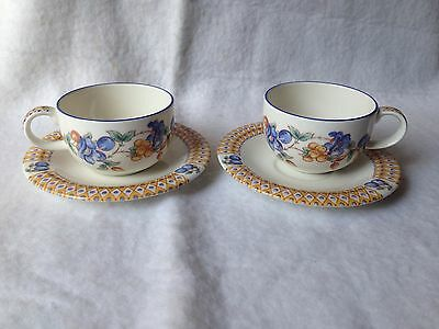 2 Royal Doulton Expressions Tanglewood Cups & Saucers