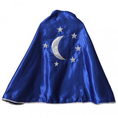 Kids Blue Magician Star & Moon Cape