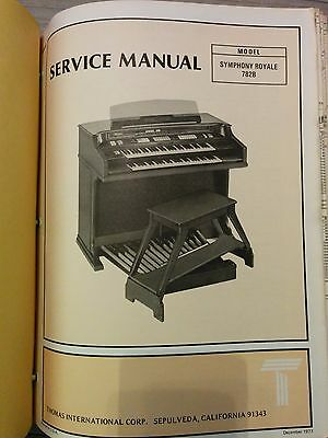Thomas Organ Model Symphony Royale 782B Service Manual