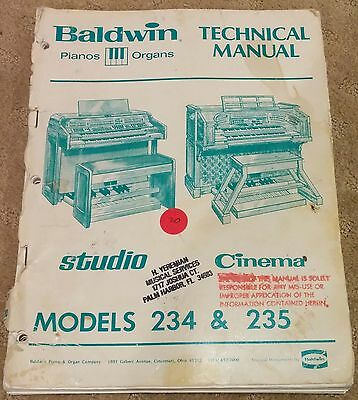 Baldwin Model 234 235 Series Technical Manual - ORIGINAL