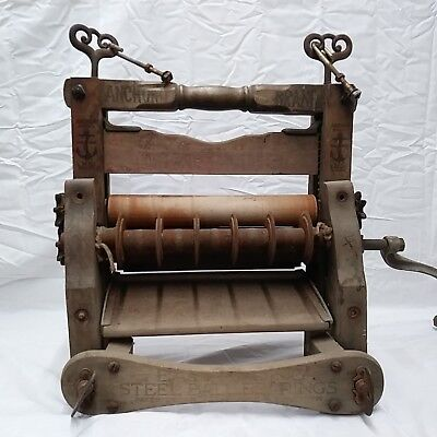 Antique Vintage Anchor Brand Laundry Clothes Wringer