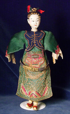 Antique Chinese Empress or Attendant OPERA DOLL White Face Dragon Costume