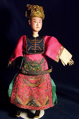 Antique Chinese Empress Attendant OPERA DOLL Male Elaborate Costume with Dragon