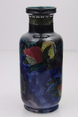 Rubens Ware by Hancock &Sons Pomegranate Pattern Rouleau Vase c1915 Hand Painted