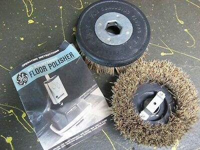 GE Floor Polisher Brushes for Scrubbing Floors, & Owner's Manual