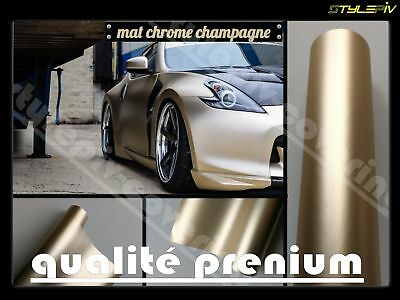 Film vinyle covering mat chrome or champagne 152 x 30 cm thermoformable adhésif