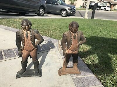 CAST IRON  George Washington ANDIRONS Fire Dogs