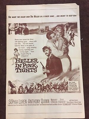 """""""  Heller In Pink Tights """" Original Movie Theater Poster"""