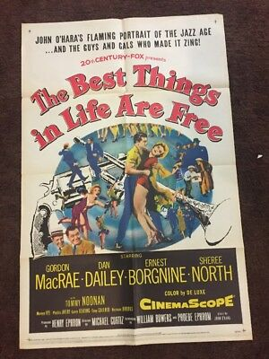 """"""" The  Best Things In Life Are Free 1956Original Movie Poster"""