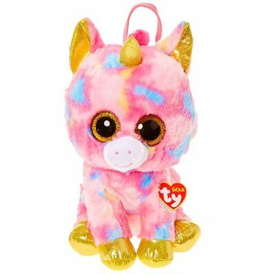 "TY BEANIE BOOS Fantasia Pink Unicorn BACKPACK Soft Toy 9"" 23cm"