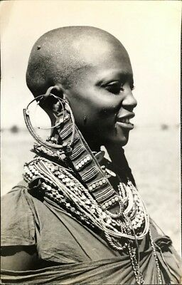 CPA  photo argentique (real photo)  Masai girl