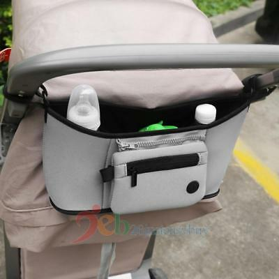 Baby Pram Stroller Pushchair Buggy Holder Storage Bag Cup Diapers Organizer Case
