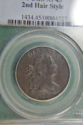 1798 Large Cent SHS PCGS XF45 - Exceptional Coin!