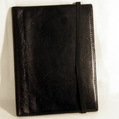"Wilsons Italian Leather Pelle Studio Notepad Cover Credit Card Holder Fits 5""x8"""