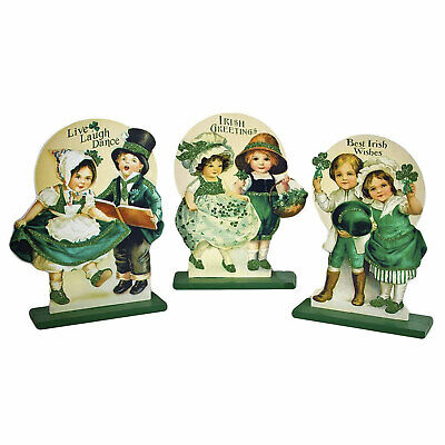 Wooden Irish Die Cut Retro Vintage Style St Patrick's Day Home Decor Greetings