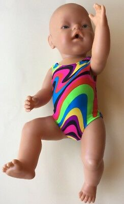 Megastar Psychedelic bathers swimmers hand made dolls clothes for 43cm Baby Born