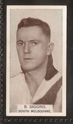 Wills Australian-Aussie Rules Footballers 1933-#006- South Melbourne - Diggins