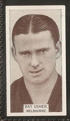 Wills Australian-Aussie Rules Footballers 1933-#016- Melbourne - Ray Usher