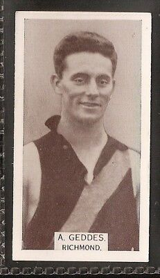 Wills Australian-Aussie Rules Footballers 1933-#064- Richmond - A Geddes