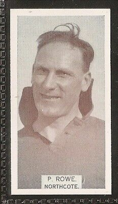 Wills Australian-Aussie Rules Footballers 1933-#142- Northcote - P Rowe