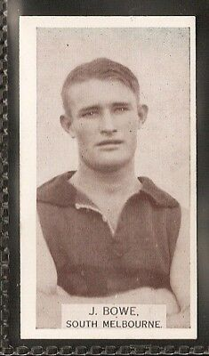 Wills Australian-Aussie Rules Footballers 1933-#148- South Melbourne - J Bowe