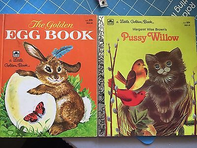 Pre-owned Lot Of 2 Little Golden Books Pussy Willow & Golden Egg Book