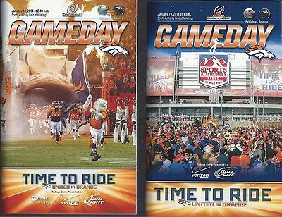 2013-14 Nfl Afc Divisional & Championship Denver Broncos Football Game Programs