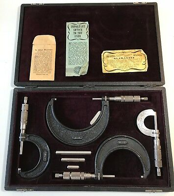 Vintage The Central Tool Co. Micrometer Set w/ Case