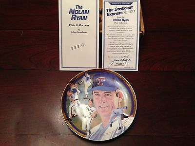 NOLAN RYAN Strikeout Express PLATE by Hamilton Collections in Original Box