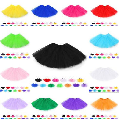 Classic Elastic Tutu Toddler 3 Layered Tulle Ballet Skirt For Kid Girl
