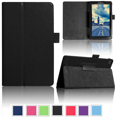 Flip Leather Smart Tablet Case Cover For Amazon Kindle Fire HD 10 2017 7th Gen