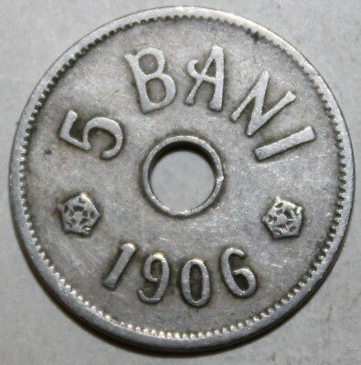 Romanian 5 Bani Coin, 1906 - KM# 31 - Romania - Carol I - Five