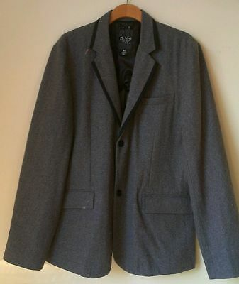 Civil Society Blazer Jacket * XL * Gray * Vented * MINT!