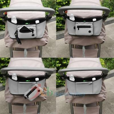 Baby Casual Diaper Stroller Organizer Pushchair Bottle Basket Pram Storage Bag