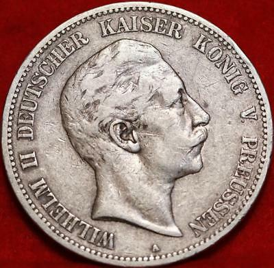 1894-A Germany 5 Marks Silver Foreign Coin Free S/H
