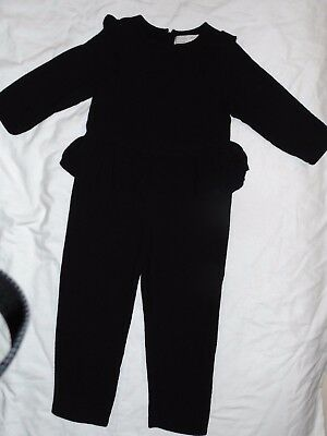 ZARA Girls Black Jumpsuit Size 5 (One Piece Outfit)