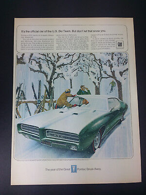 1969 Pontiac GTO Vintage Magazine Print Ad Advertisement