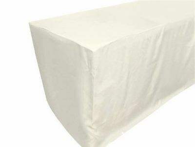 URBY 5' ft Fitted Tablecloth Polyester Wedding Banquet Event Table Cover ... New