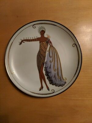 House Of Erte Diva Ii Plate By The Franklin Mint