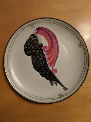 """HOUSE OF ERTE """"BEAUTY AND THE BEAST"""" FRANKLIN MINT PORCELAIN PLATE 1995-Rare"""
