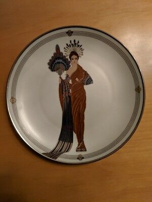 """House Of Erte """"athena"""" Franklin Mint Collector Plate"""
