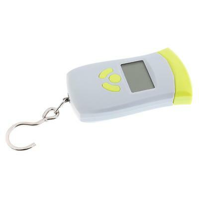Portable 50kg/110lbs Electronic Weight Scale Travel Hanging Scale White