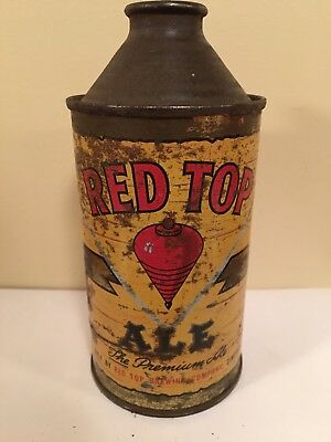 RED TOP ALE Cone Top Beer Can 12 oz. with Ohio Tax Crown Cap