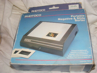 Vintage Photoco portable Negative and Slide Viewer Sorter
