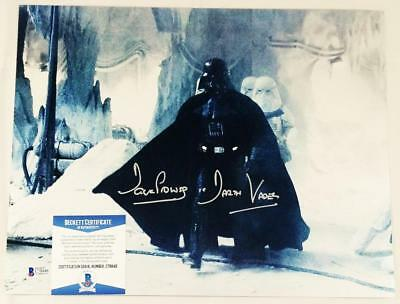 "Dave Prowse Signed ""darth Vader"" 11X14 Metallic Photo Star Wars Bas Coa 846"