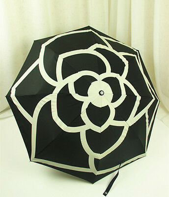 New Chanel Umbrella VIP Gift- Black Camellia With Gift Box and Carry Bag + pen