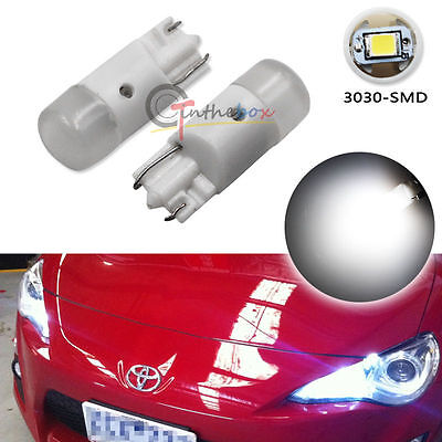 2PCS Cool White T10 W5W 2825 3030-SMD LED Bulbs For Parking Position City Lights