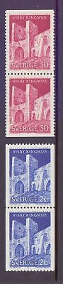 Sweden  1965  Visby Townwall x 2, MNH.