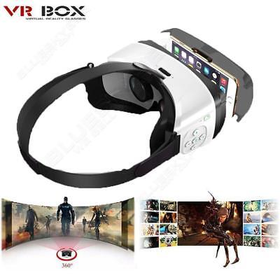 3D Virtual Reality VR Glasses Head Mount Google Cardboard For Samsung iPhone
